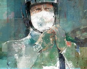 Steve McQueen: Small open edition giclée print.