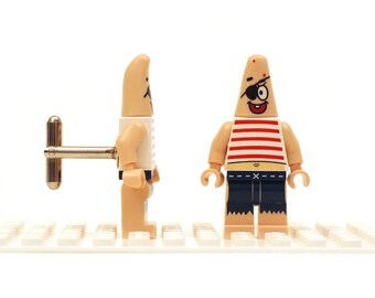 Super fun cufflinks. Cufflinks made with LEGO(R) bricks. Cufflink Wedding gift. I'm Patrick