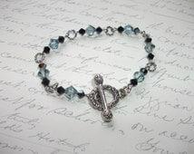 Black and blue crystal bracelet
