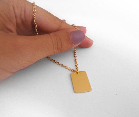 custom dog tag necklace name tag necklace custom engraved. Black Bedroom Furniture Sets. Home Design Ideas
