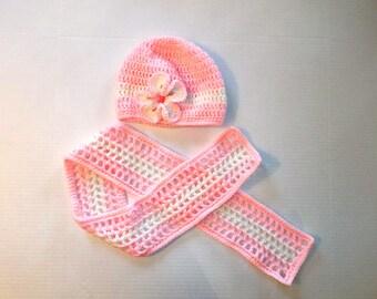 Girls Crochet Scarf & Hat