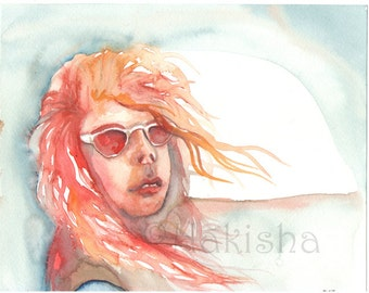 Rose Colored Glasses - Original Watercolor Painting