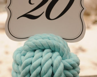 Nautical Wedding  - Nautical Table Decor - Aqua Wedding - Rope Knots - Aqua - Nautical Decor - Destination Wedding - (this is for 15 knots)