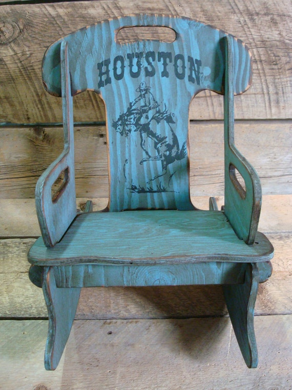 personalized puzzle rocker rocking chair for kids rustic. Black Bedroom Furniture Sets. Home Design Ideas