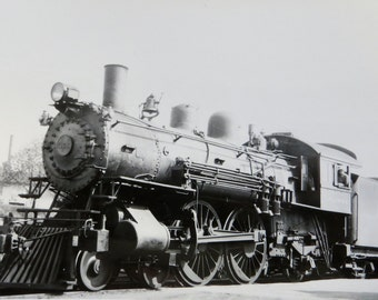 Vintage 1940's Chicago, St Paul, Minneapolis And Omaha Railway Train Engine No. 366 Real Photo Postcard RPPC - Free Shipping