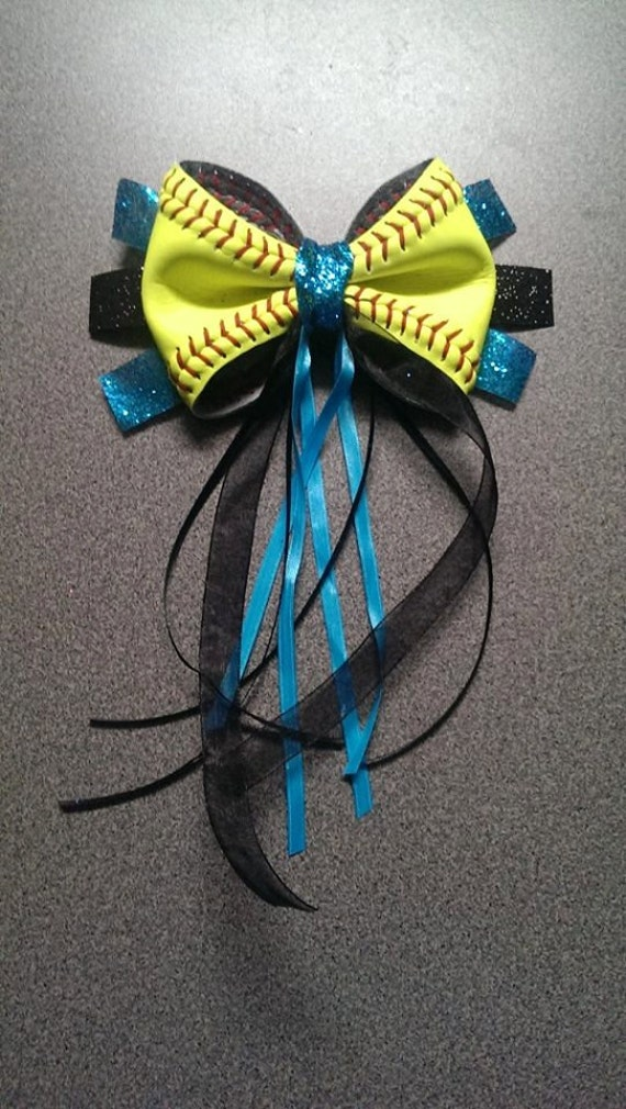foto de Softball Hair Ponytail BOW by 360Softball on Etsy