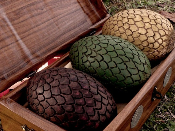 Items Similar To RESERVED Dragon Eggs With Box Daenerys