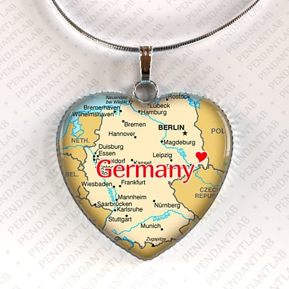 Germany Map Pendant