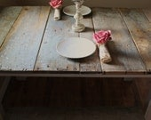 Country Barn Wood Table and Benches
