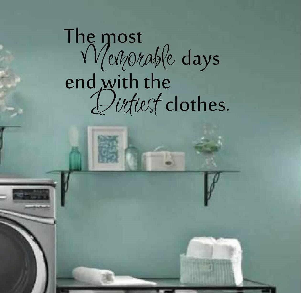 Laundry Room Decor Wall Art Matt Vinyl Decal Laundry