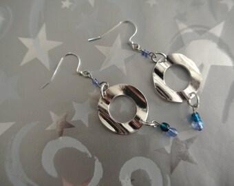 SIlver Circle Metal Earrings- CLEARANCE