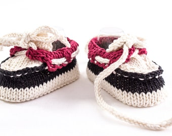 KNITTING PATTERN, Baby Boat Shoes, Baby Boy Booties, Summer Booties, Newborn Baby Boat Shoes, Designer Baby Shoes, Instant Download Pattern