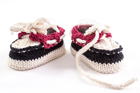Knitting Pattern For Baby Boy Shoes : KNITTING PATTERN Baby Boat Shoes Baby Boy Booties Summer