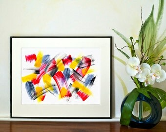 REDUCED - Brushstrokes No.1 (Abstract)