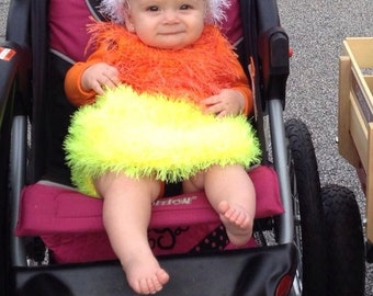 Candy corn Baby Costume, photo prop, Dress and hat