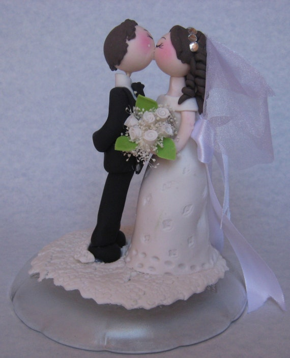 Wedding Cake Topper Romantic Wedding Cake Topper By CuteToppers
