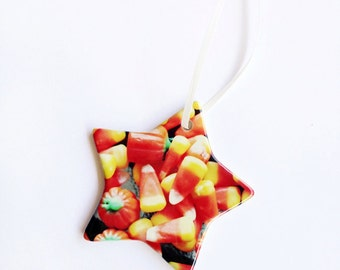 Candy Corn Christmas Ornament, Hallloween Ornament, Fall, Autumn, Christmas, Holiday Gift, Holuday Decoration