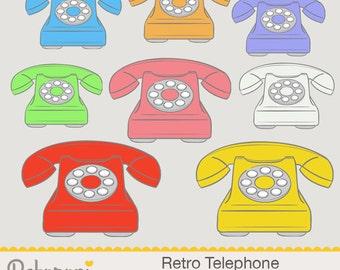 Retro Telephone Clipart