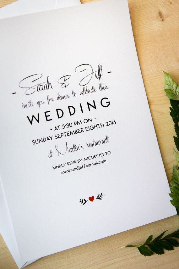 Items Similar To Wedding Invitation Package