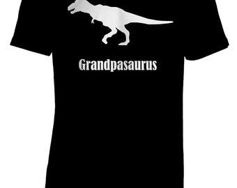 Dinosaur T-Shirt, Grandpasaurus, T-Rex, White