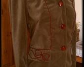 "ON SALE - 1940s Vintage Style Grey Velvet Jacket With Soutache Detail - Bust 32"" Size 8/ S"