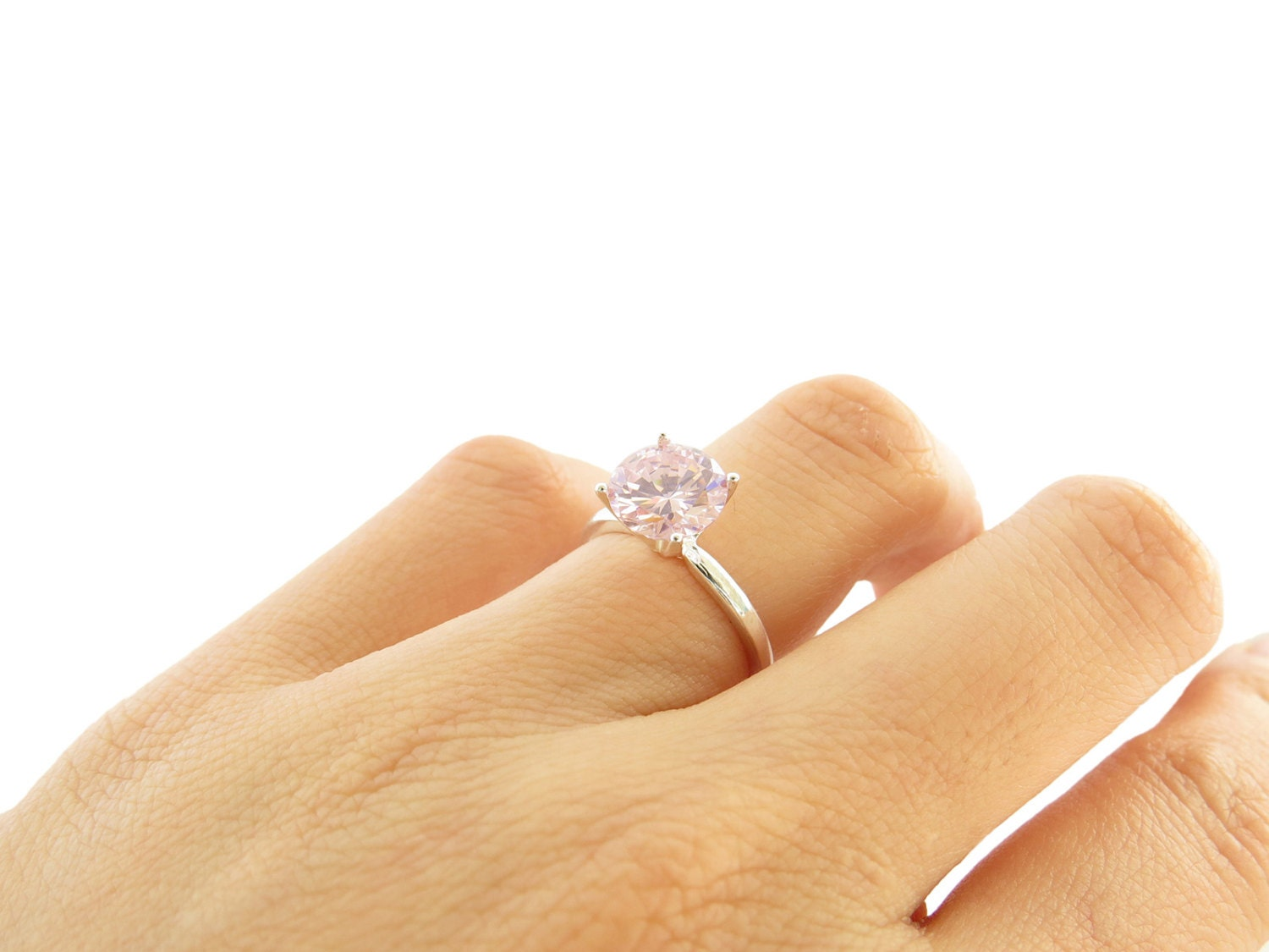 2 Carat Pink Diamond Engagement 8mm Ring Man By TigerGemstones