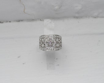 Art Deco Ring - Ornate Silver Ring - Estate Jewelry