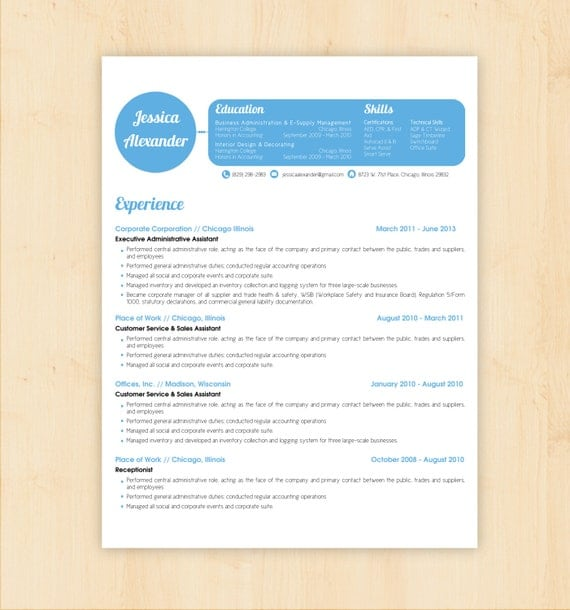 Resume Template Cv Template The Jessica Alexander By