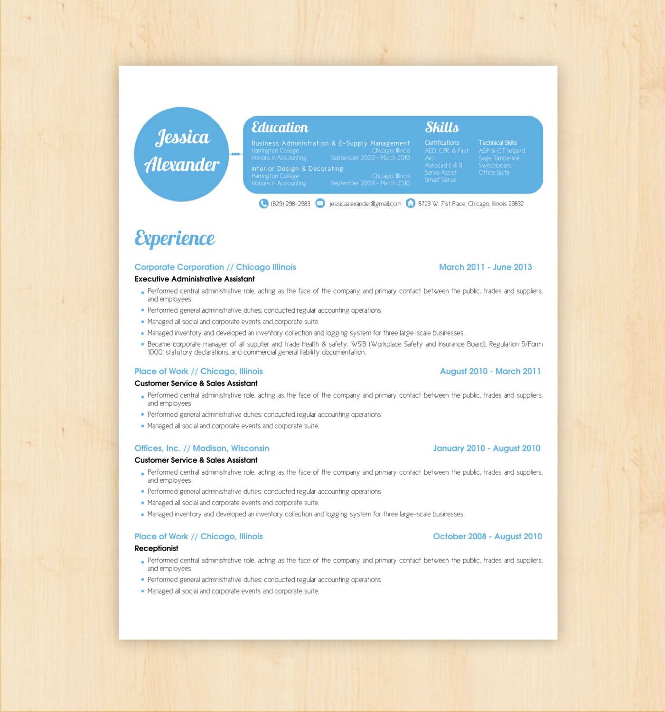 resume template    cv template the jessica alexander by phdpress