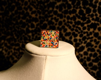 Square Sprinkle Ring