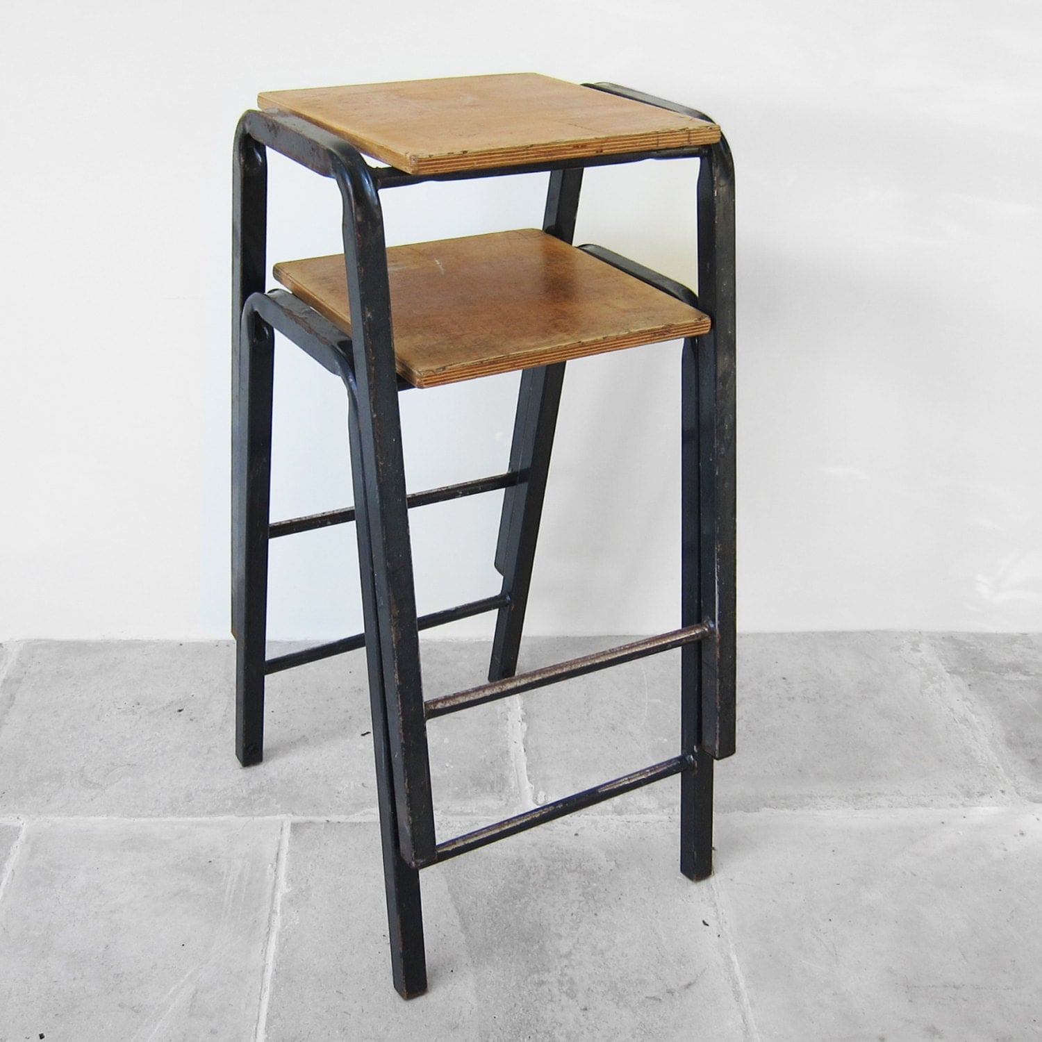 1950s Vintage School Science Lab Stools Perfect