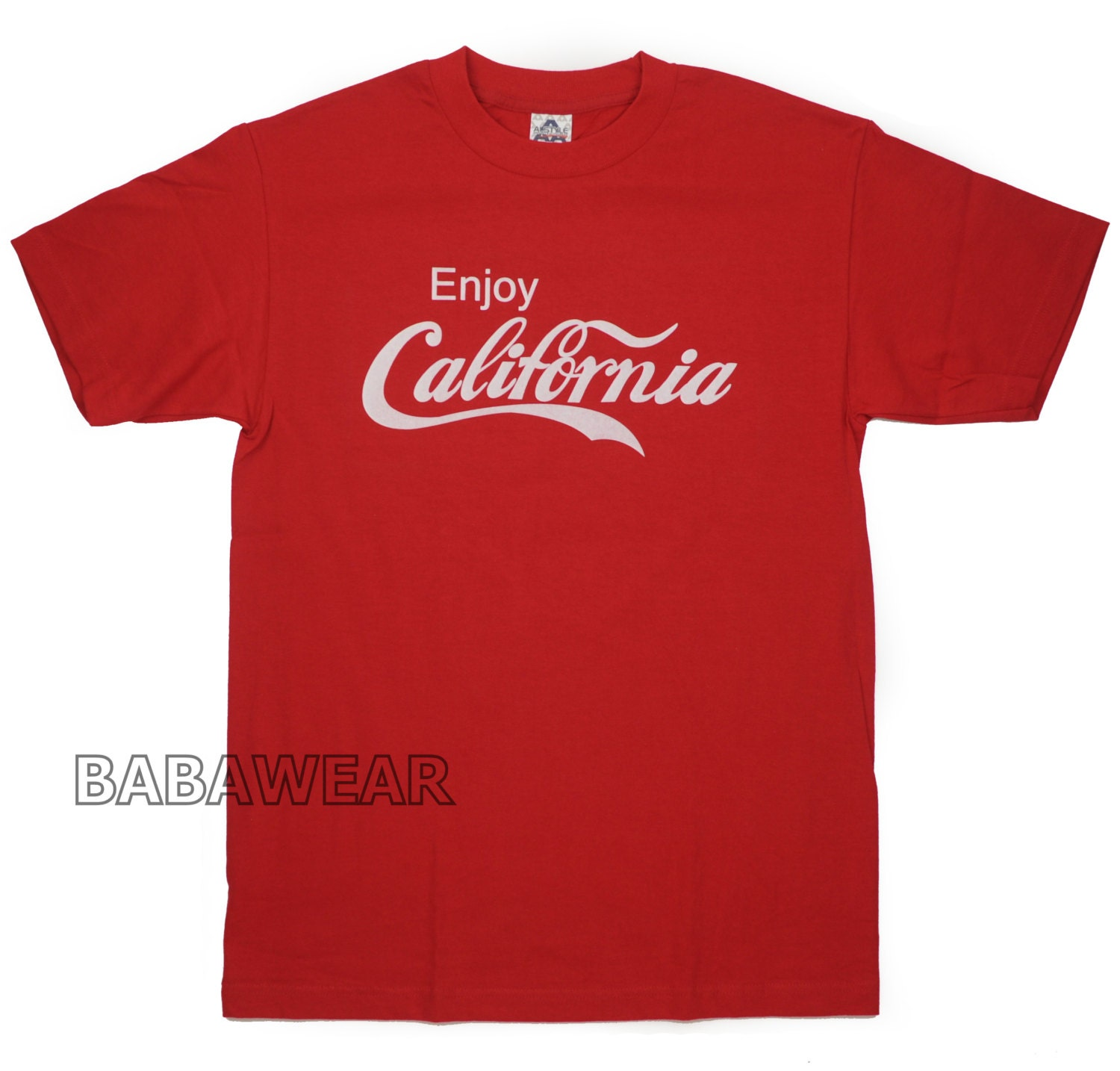 enjoy california coca cola t shirt cali red coke. Black Bedroom Furniture Sets. Home Design Ideas