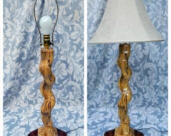 Table Lamp Desk Light - Curvature Art Design Curvy  - Handmade Handcrafted by Jonathan Salmons - Zebra Stripes