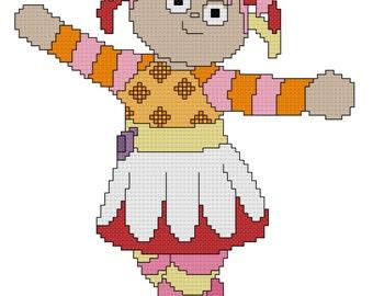 Upsy Daisy Cross Stitch Pattern