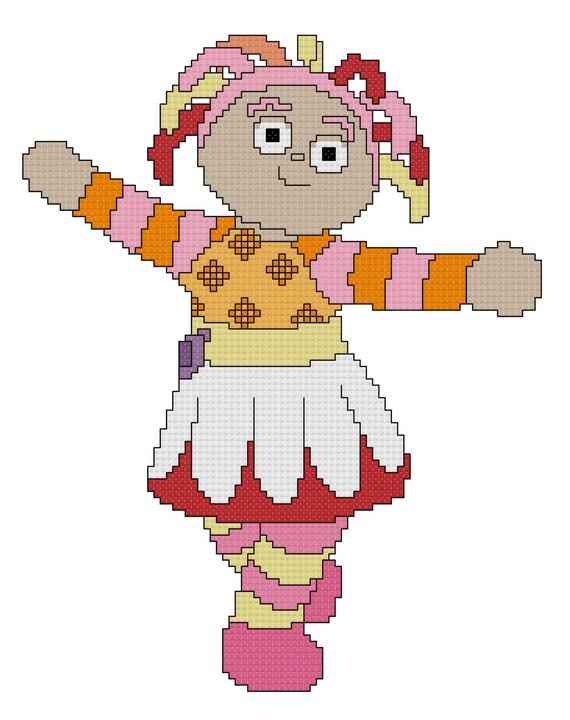 Upsy Daisy Knitting Pattern : Upsy Daisy Cross Stitch Pattern