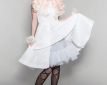 Digital Lolita dress pattern 'Bianca'  with How-to tutorial. Easy to alter, easy to re-print. Size 8-26 available
