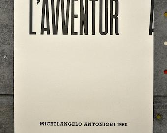 Italian Film Poster Series: Antonioni's L'Avventura
