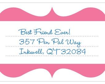 Super cool blank address label: Groovy Parentheses  • Multi palette (8/sheet)