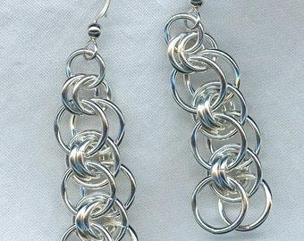 Helm Earrings in Argentium Sterling Silver