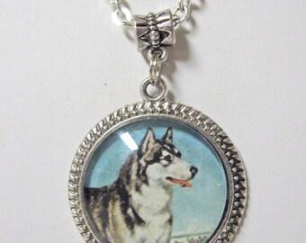 Malamute pendant with chain - DAP05-069