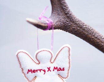 Christmas decoration with personalized text, 10 pcs