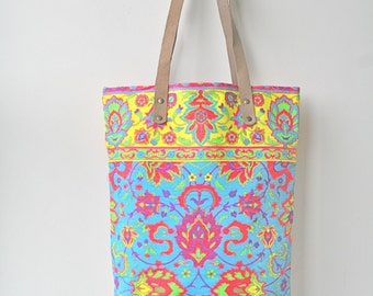 S23 Cotton - coin's summer tote . bolsos . shopping tote . tribal tote .