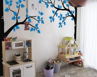 Tree Wall Decal - Nursery Wall Decoration - Tree Wall Sticker - Full Corner Tree decal - Set of Two trees  K015
