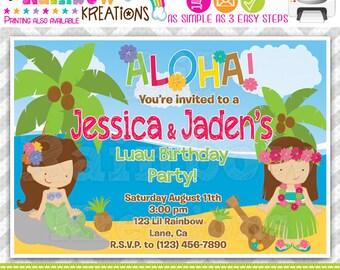 431: DIY - Mermaid Luau Party Invitation Or Thank You Card