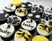 12 Bee Themed Black Yello...