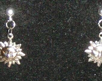 Quarter-Inch Sun Face Earrings