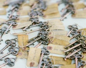 Skeleton Key Bottle Opener (with vintage tag) - TreesofLace