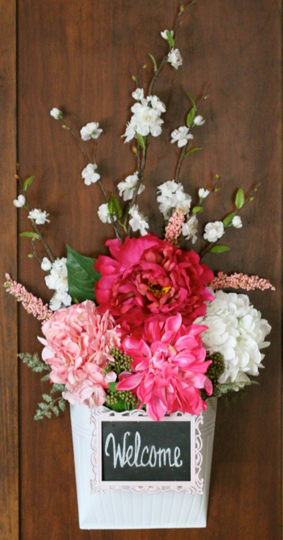 Items Similar To Spring Summer Wreath Hydrangea Door