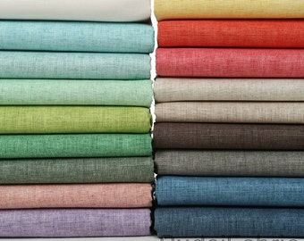 Solid Color Wax Coating Linen Fabric by the Yard Cotton Fabric Korean Linen Window Curtain Fabrc Handwork - half yard