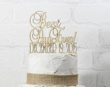 Rustic Wedding Cake Topper or Sign Mr and Mrs Topper Custom Personalized with YOUR Last Name Paintable Stainable Wood